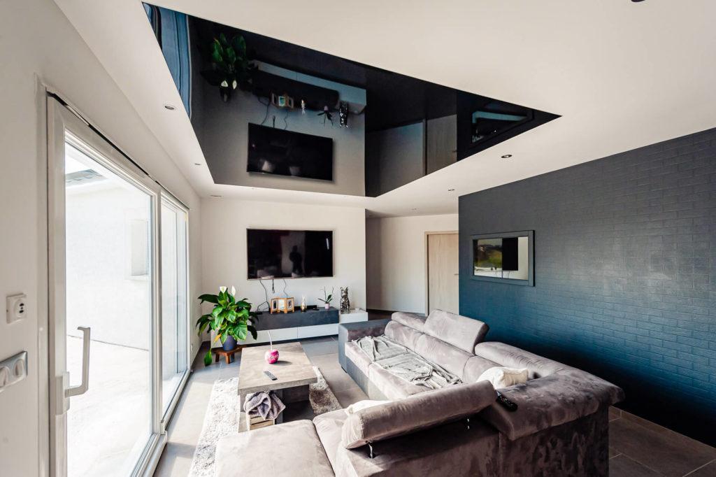plafond tendu miroir